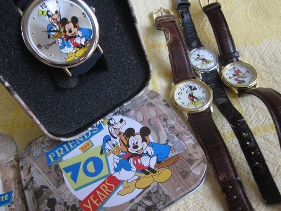 Lot of 4 Vintage Disney Mickey Mouse Wrist Watches