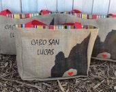 12 Semi Custom Eco-Friendly Tote Bags / Gift Bags - Handmade from Recycled Coffee Sacks