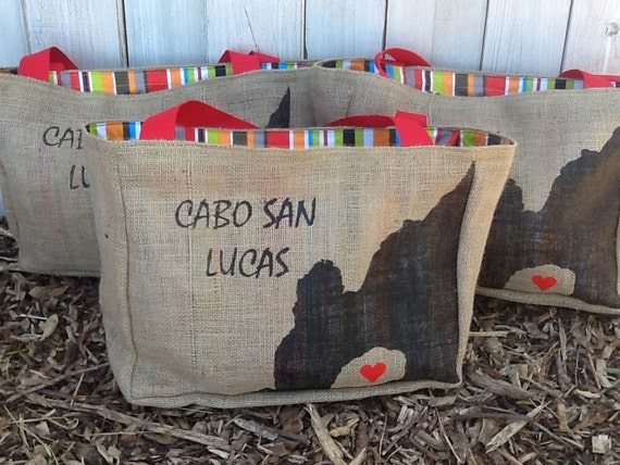 12 Semi Custom Eco-Friendly Tote Bags / Gift Bags - Handmade from Recycled Coffee Sacks