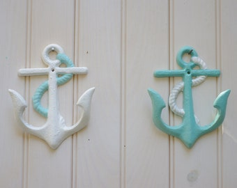 Cast Iron Anchor Wall Hook - PICK YOUR COLORS