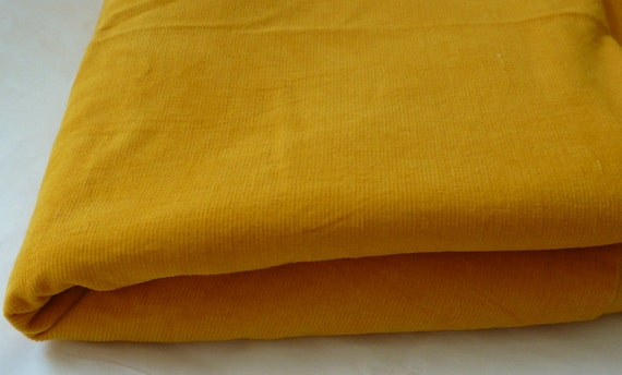 Vintage Gold Corduroy 3 3/4 Yards 1970s