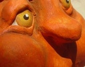 Folkart Handsculpted Halloween Pumpkin - Darius