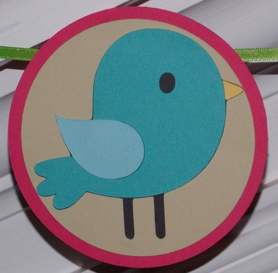 Welcome Banner Blue Bird Banner ... Baby Shower Birthday Back to School ... READY TO SHIP  ... adjustable customize