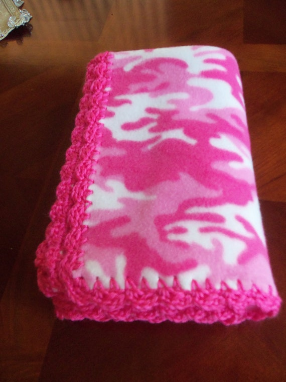 Items Similar To Baby Blanket Pink Camo Fleece With Hot