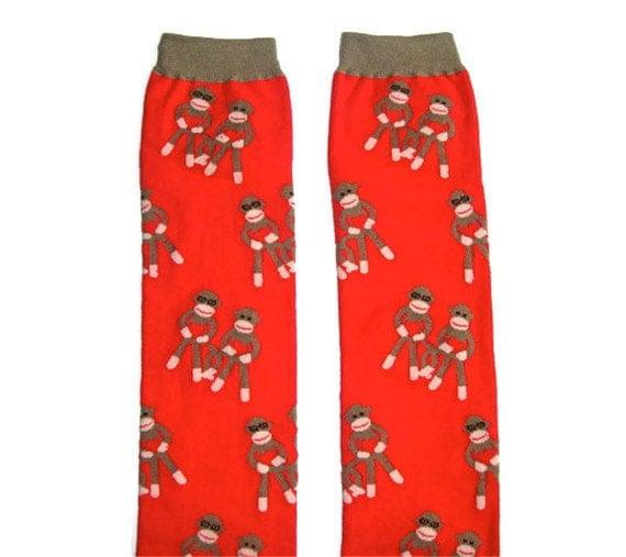 Leg Warmers - Sock Monkey Love