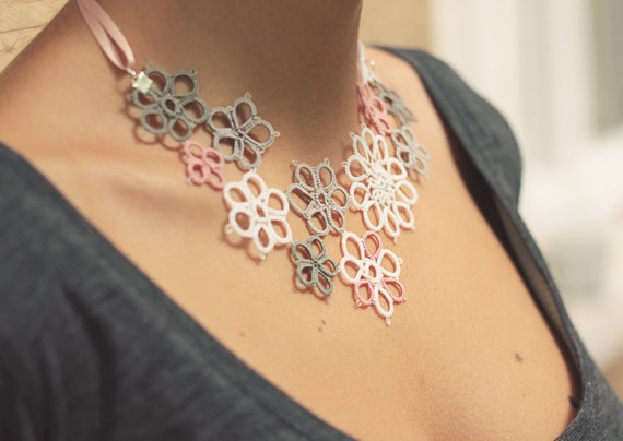 Items similar to perfect gift for her - handmade tatted ...