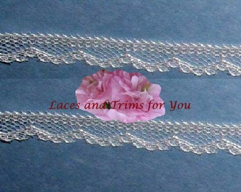 Cream Lace Trim 12/24 Yards Vintage Scalloped 3/8 inch wide Lot J64C Added Items Ship No Charge