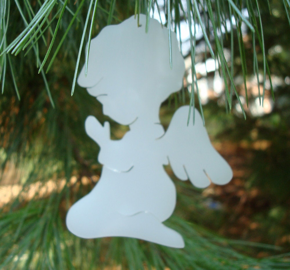 RESERVED for Don: Praying Angel Christmas Ornament White Hand