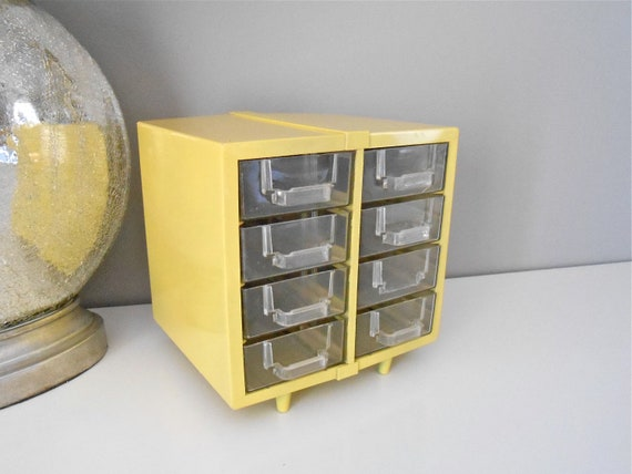 Unique Vintage Yellow Drawers
