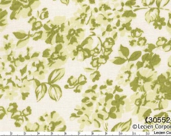 Hill Farm - Green Floral by Brenda Riddle for Lecien Fabrics