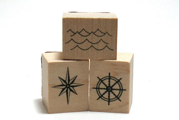 Nautical Beach Stamps (Set of 5)