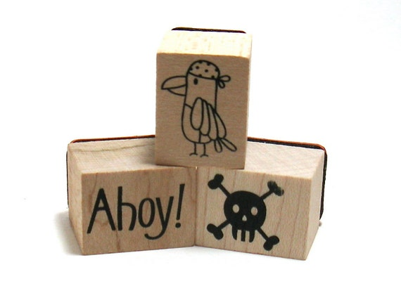 Pirate Stamps (Set of 4)