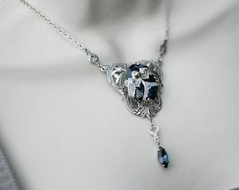 SAVE10 for a 10% discount Harry Potter Hogwarts Rowena Ravenclaw's Diadem Inspired Necklace Swarovski