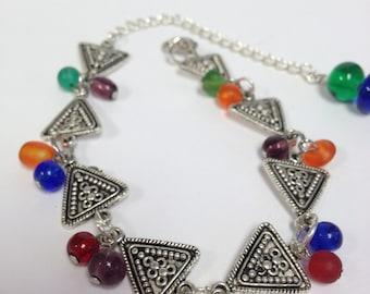Triangle India Inspired Bracelet/ Anklet