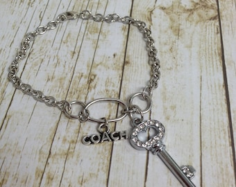 COACH and Key Charm  Bracelet
