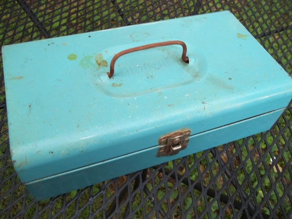 Vintage Bernz-O-Matic Turquoise Metal Tool Box