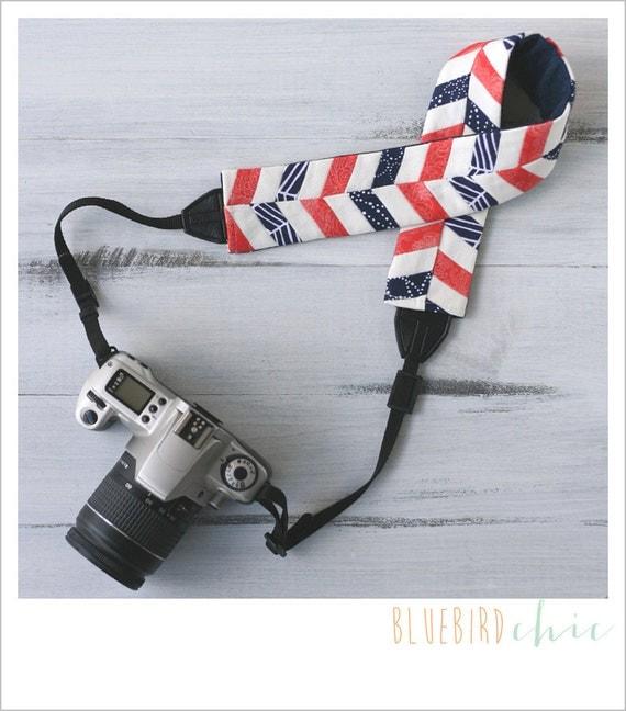 CLOSEOUT SALE - bloom chevron camera strap cover