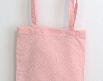 Cotton Candy Pink Small Tote for a Gift Cotton Fabric Fat Quarter Original Design