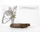 10 Mailing Labels - Hedgehog & Honeysuckle Flower