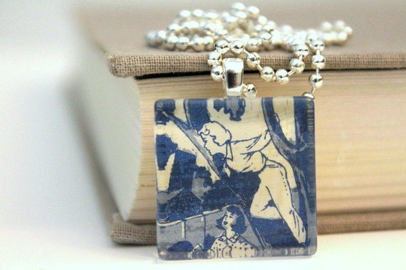 Nancy Drew pendant - The Clue of the Leaning Chimney