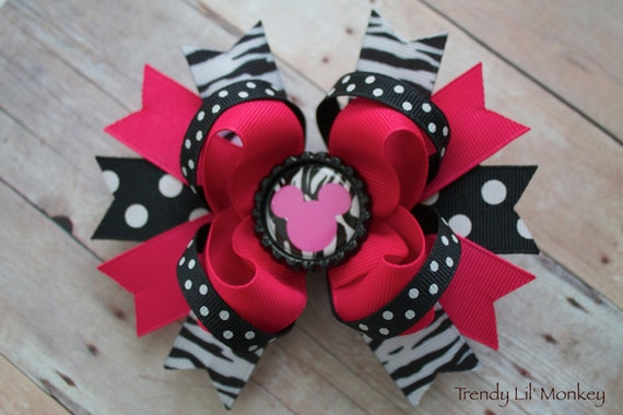 Chic Mouse Inspired Birthday Hair bow