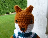 Charlie the Fox Crochet Sweater Toy