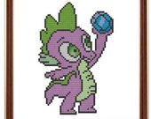 Cross Stitch Pattern Spike the Dragon inspired by My Little Pony