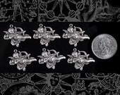 Silver Plated Brass Cherub with Bow and Arrow Charms, Set of Six   S-C78