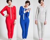 Goodnight Neverland Onesie - Red Grey or Blue stretch cotton onesie playsuit jumpsuit pyjamas pajamas scallops peterpan collar XS S M L XL