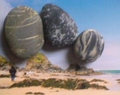 3 small Irish Beach Stones.