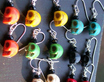 Lucky Seven Sugar Skull Baby Sugar Skull earrings