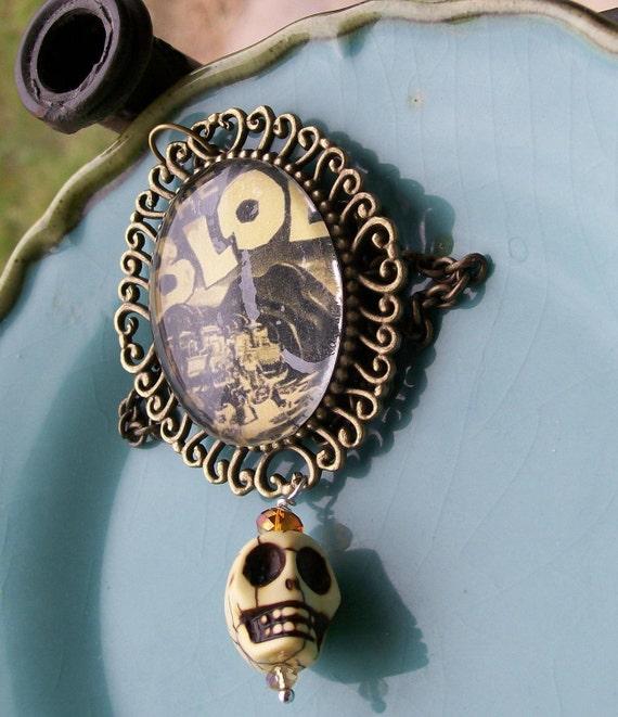 Horror Movie and Sugar Skull Necklace