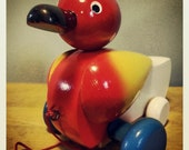 Hank the Duck - Vintage Wooden Pull-along Duck