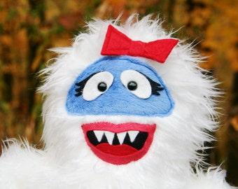 Adorable Snow Girl Handmade Huggable Plush - Made to Order- Teetoo