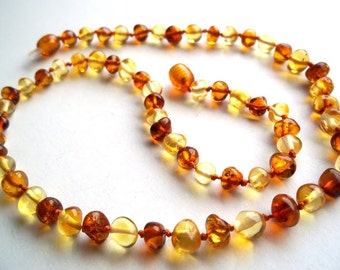Light and Honey colour   Baltic  Amber  Necklace   19.7 inches.