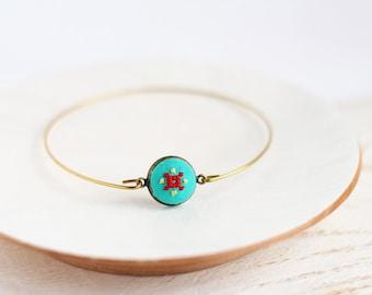 Tiny mint bracelet - Ethnic bracelet - Summer collection by Skrynka - br002