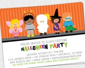 Printable Halloween Invitation, Birthday Party, Costume, Kids, Children, Trick or Treat, DIY Digital File