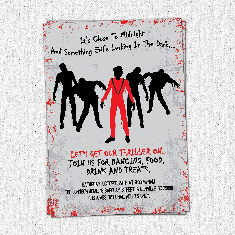 Zombie Party Invitations – Zombie Party Invitations Free