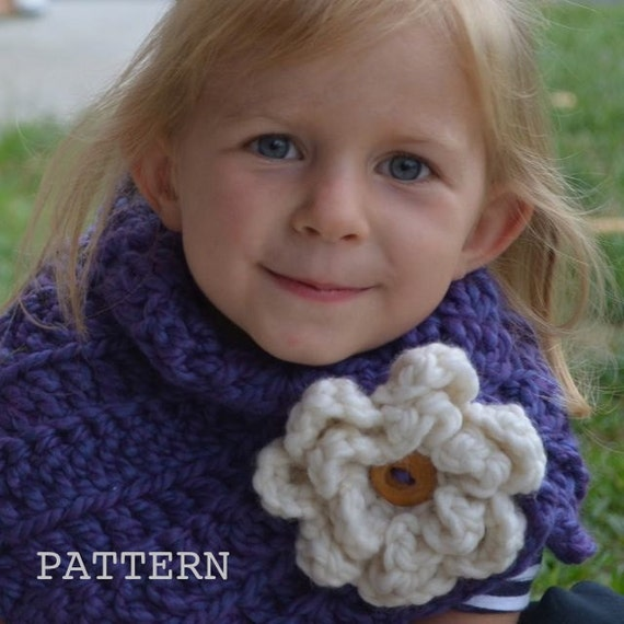 Crochet PATTERN Toddler Kids Adult nackwarmer cowl scarf infinity. (030)