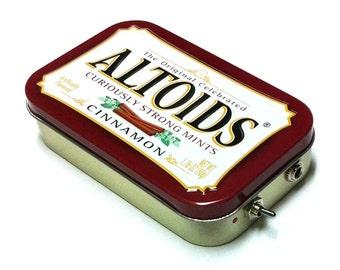Portable Amp and Speaker for MP3 Player -Altoids Burgundy/Black Crushed Velvet