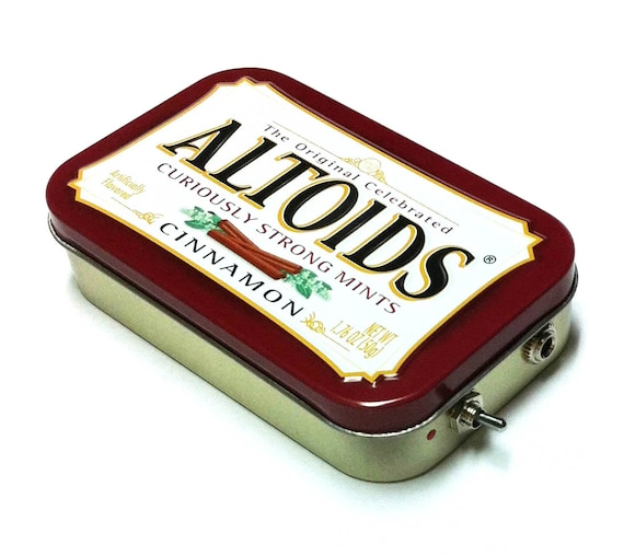 Portable Amp and Speaker for MP3 Player -Altoids Burgundy/Black Crushed Velvet