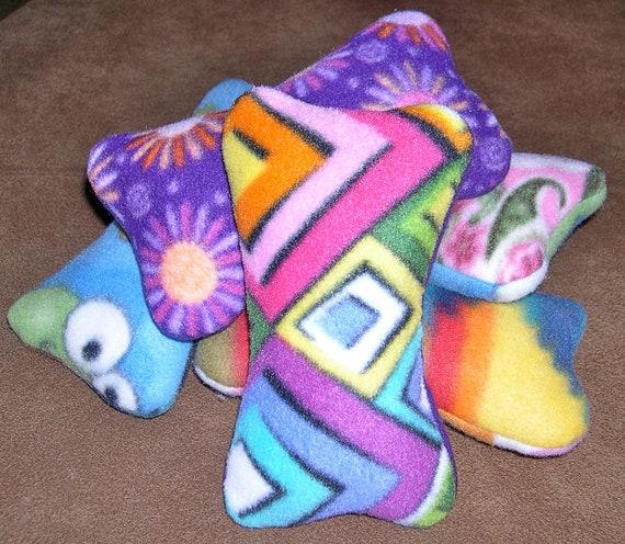 FIVE Xtra Tough Squeaky Dog Toys