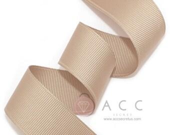 5Yards Mocha Solid Grosgrain Ribbon - 5mm(2/8''), 10mm(3/8''), 15mm(5/8''), 25mm(1''), and 40mm(1 1/2'')