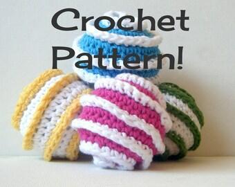 "Amigurumi Toy Ball PDF Crochet Pattern INSTANT DOWNLOAD ""Galaxy Spiral Prototypes"""