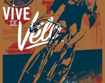 Vive le Velo 2010 Bicycle Art Print