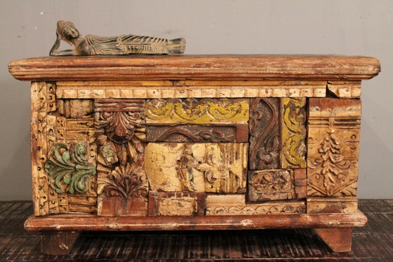 Architectural Elements Carved Trunk