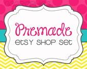 Premade Etsy Shop Banner Set- The Blake Design