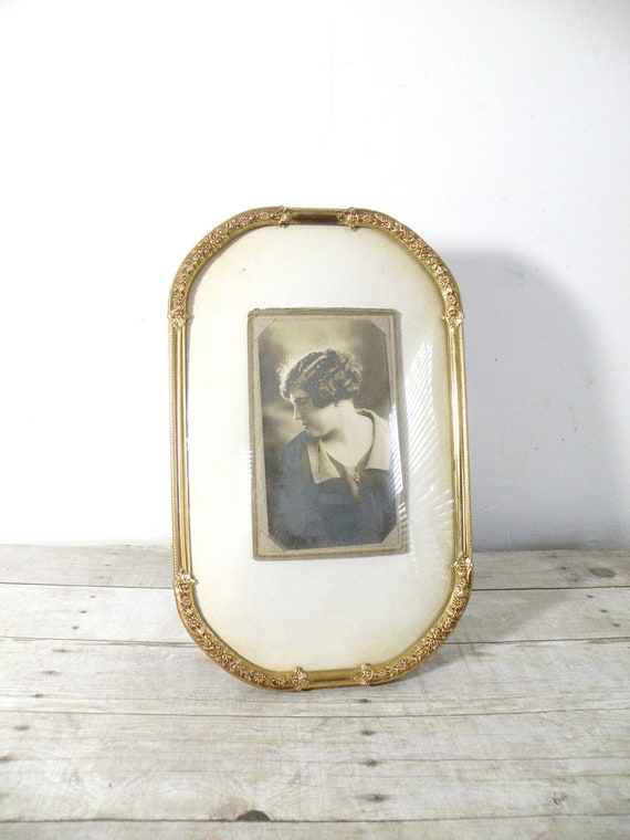 vintage convex glass frame by experimentalvintage on etsy