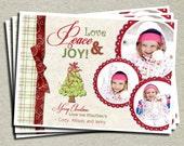 Photo Christmas Card - Holiday Card - Printable Design