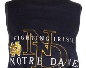 Custom Gameday Shirt or Dress made w/ Notre Dame Tshirt - FREE SHIPPING